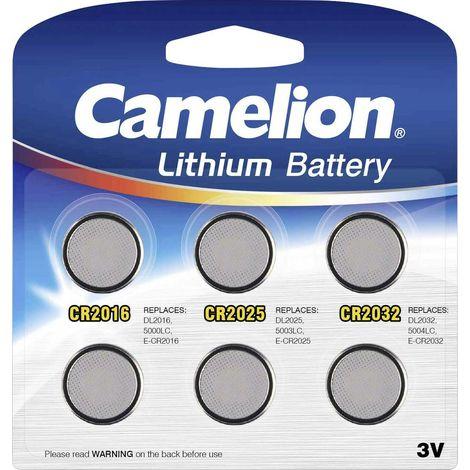 Batterie Camelion Lithum Mix Set CR2016, CR2025, CR2032